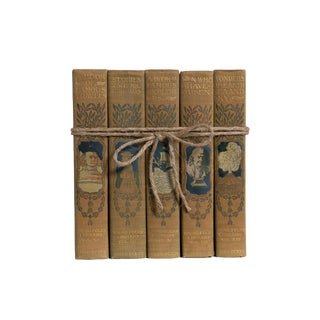 Antique Young Folks Library Gift Set, (S/5) For Sale