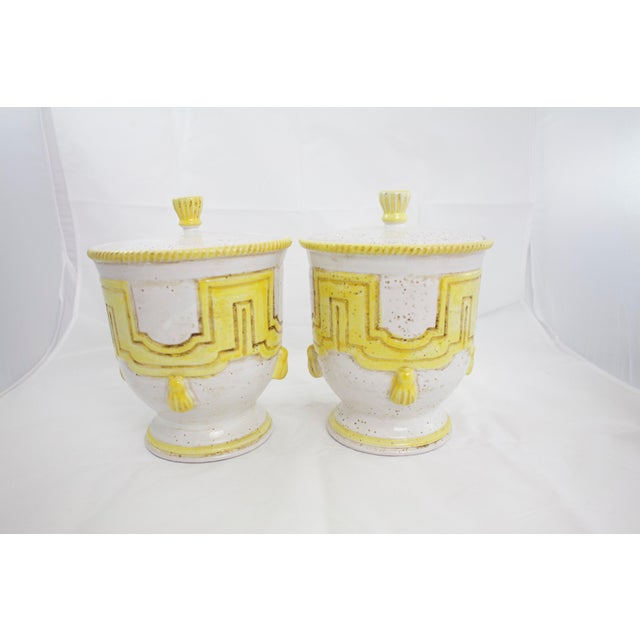 Ceramic Large 1950s Italian Pottery Jars For Sale - Image 7 of 11