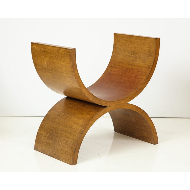Brown Curule Benches by Jay Spectre (Set of 4) For Sale - Image 8 of 13