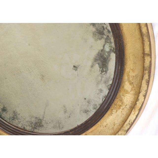 Suzanne Bonham Round Gilded Antiqued Mirror - Image 3 of 6
