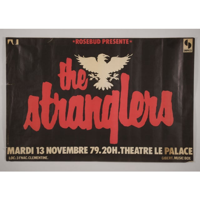 1970s Vintage The Stranglers Promotional Poster For Sale - Image 12 of 12