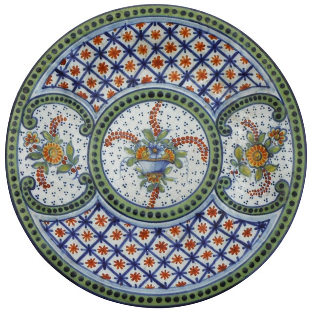French French Faience Platter Saint Clement, Circa 1900 For Sale - Image 3 of 3