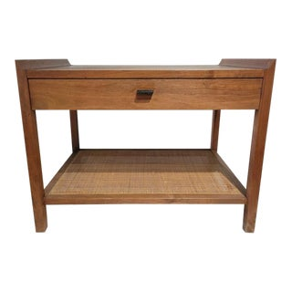 Mid Century Modern Teak SIde Table W/Drawer For Sale