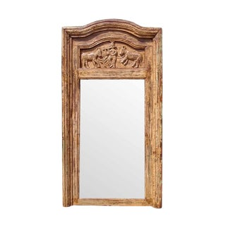 Antique Rajasthan Carved Mirror For Sale