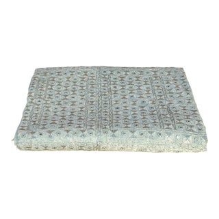 Seafoam Silver Sheesha Bed Cover For Sale