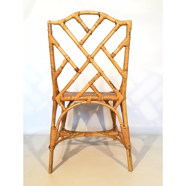 Bamboo Chinese Chippendale Cane Seat Dining Chairs - Set of 10 - Image 6 of 13
