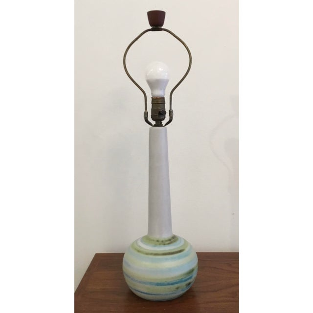 Mid-Century Modern Ceramic Table Lamp by Martz For Sale - Image 10 of 11