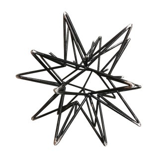 Blackened Steel Star Sculpture For Sale