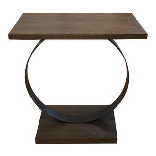 Rustic Palecek Camden Ring Base Side Table For Sale