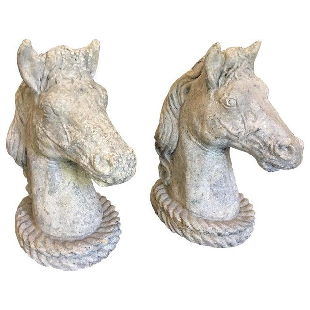 Concrete Horse Heads, circa 1950s For Sale - Image 9 of 9