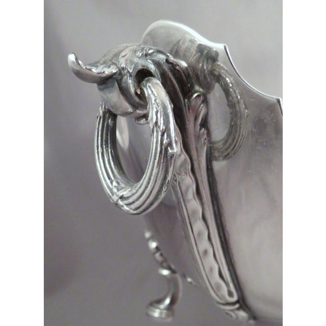 American Classical 1950s Traditional Reed & Barton Silver Acanthus Center Bowl or Monteith For Sale - Image 3 of 7