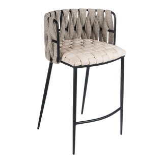 Milano Counter Chair in Off White For Sale