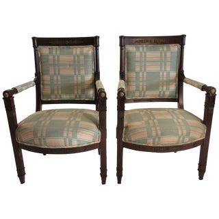 19th Century Louis XVI Chairs- a Pair For Sale