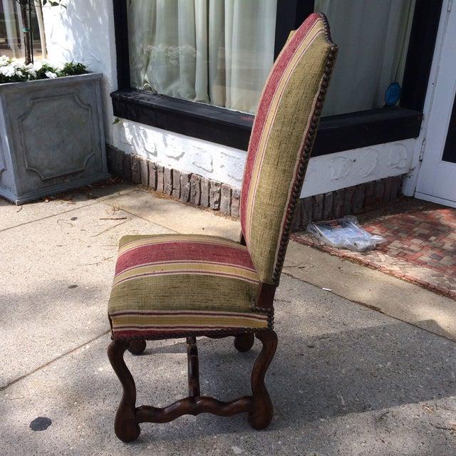 Oak Framed Oz de Mouton Upholstered Side Chair - Image 3 of 6