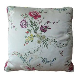 Damask Silk Lampas Pillow