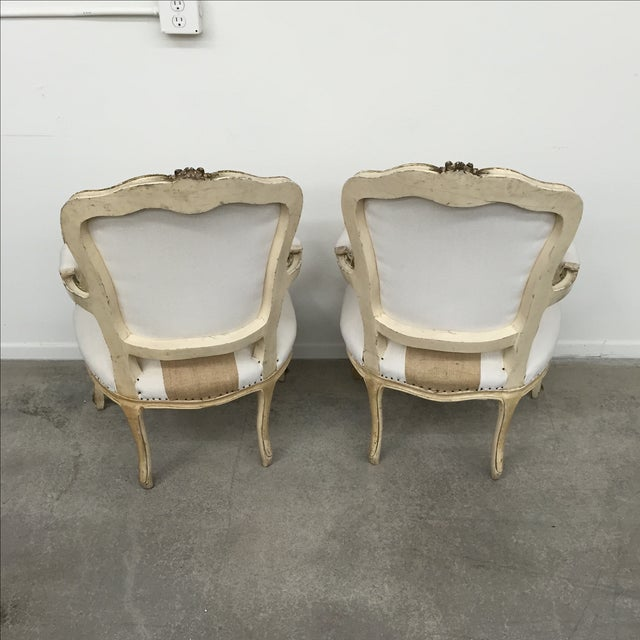 Vintage Louis XV Style Armchairs - Pair - Image 3 of 11