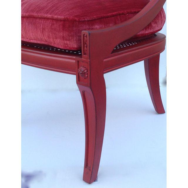 Red Hollywood Regency Spoon Back Chairs - a Pair For Sale - Image 8 of 10