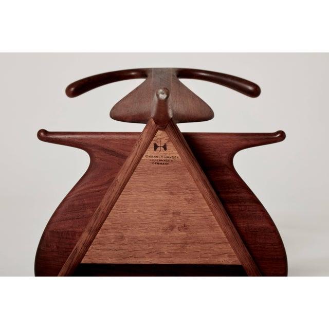 Brown Hans Wegner Valet Chair, Made by Johannes Hansen, Denmark, 1950s-1960s For Sale - Image 8 of 11