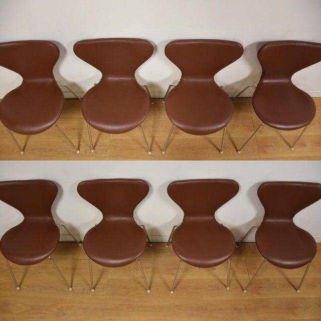 Awe Inspiring Brown Leather Chrome Dining Chairs Set Of 8 Creativecarmelina Interior Chair Design Creativecarmelinacom