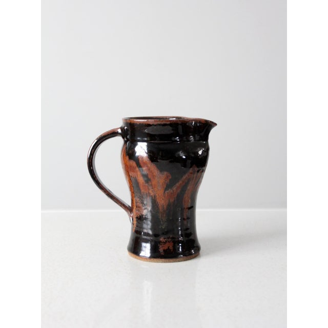 Late 20th Century Vintage Studio Pottery Pitcher For Sale - Image 4 of 10