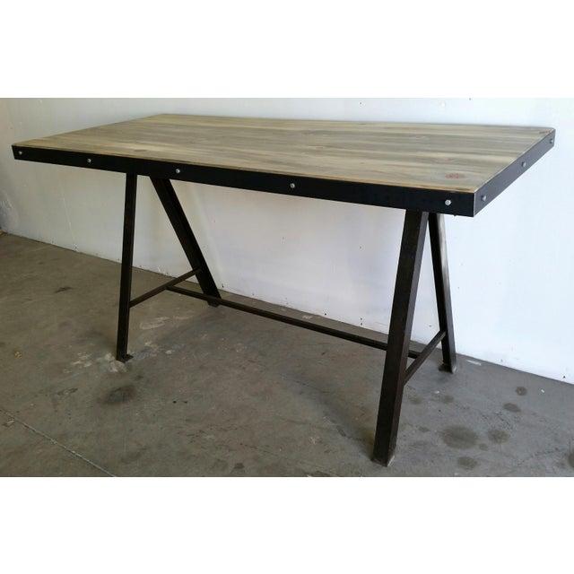 Vintage Industrial Reclaimed Table - Image 4 of 7