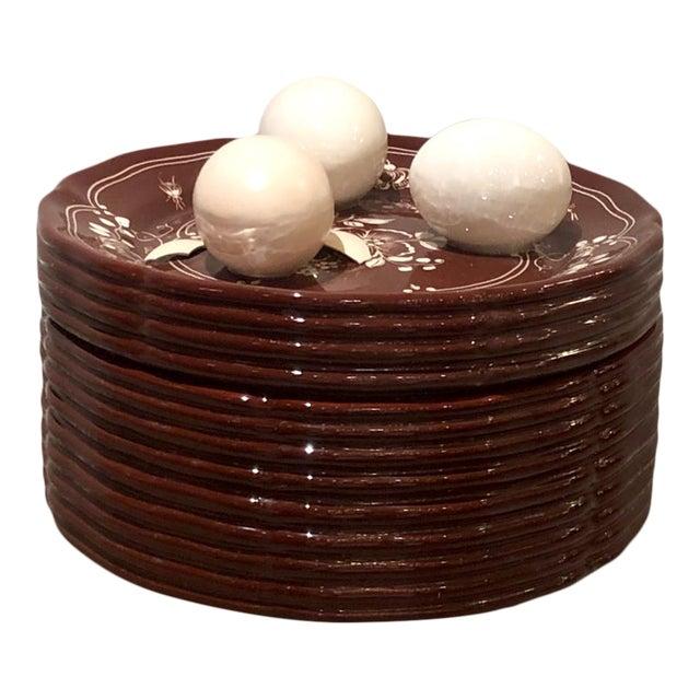 Trompe l'Oeil Egg Container For Sale
