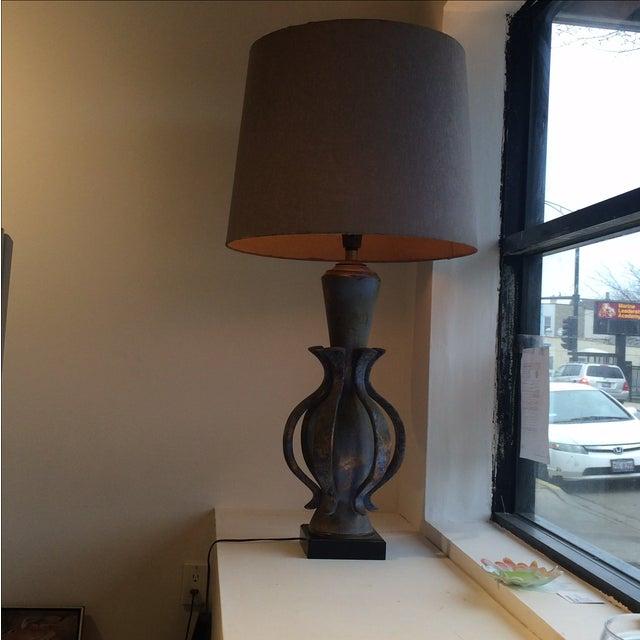TYE of California Brown Ceramic Table Lamp For Sale - Image 9 of 11