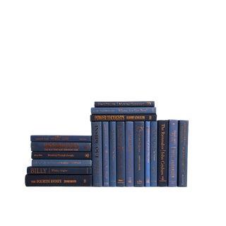Modern Denim & Copper Accent : Set of Twenty Decorative Books