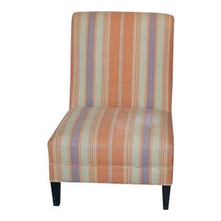 Mid-Century Modern Striped Slipper Chair For Sale