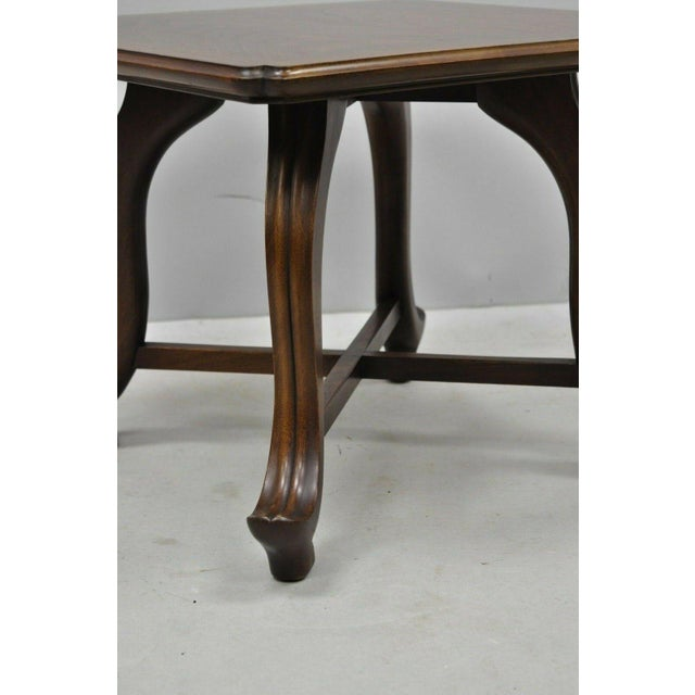 Mid 20th Century 20th Century Hollywood Regency John Widdicomb Walnut Low Side Table For Sale - Image 5 of 11