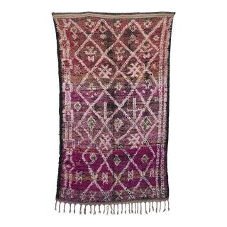 """Beni M'Guild Vintage Moroccan Rug, 5'1"""" X 8'10"""" For Sale"""