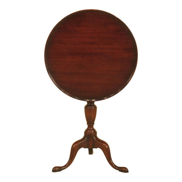 Kittinger Cw-11 Colonial Williamsburg Mahogany Tilt Top Table - Image 1 of 11