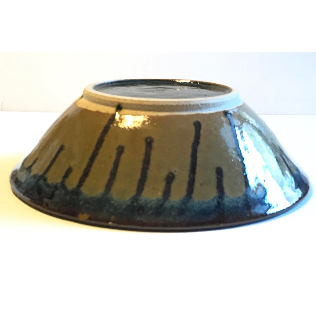 Glazed Beeware Ceramics Pottery Bowl For Sale In Los Angeles - Image 6 of 7