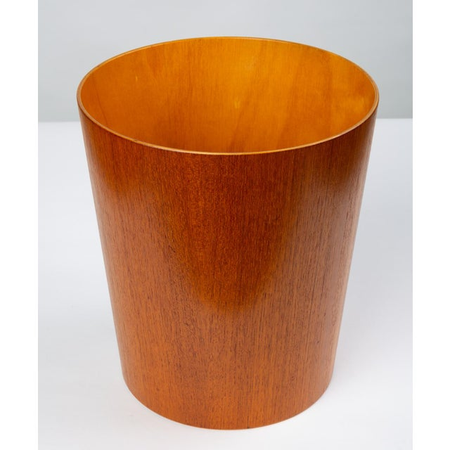 1960s Rainbow Wood Products Teak Wastebasket by Martin Åberg For Sale - Image 5 of 10