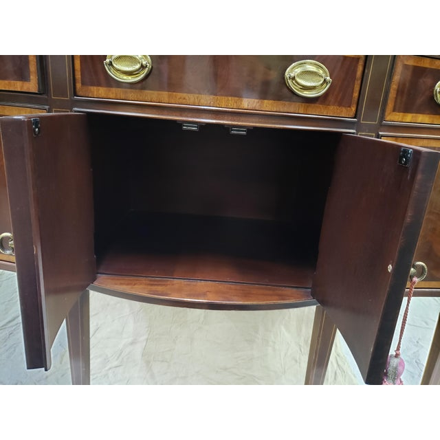 1980s Traditional Hickory American Masterpiece Collection Sideboard Server For Sale - Image 10 of 13