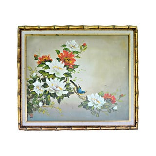 1960s Vintage Botanic Original Signed & Framed Oil Painting For Sale