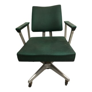 Vintage Mid Century Modern Industrial Aluminum Swivel Office Chair by Goodform For Sale