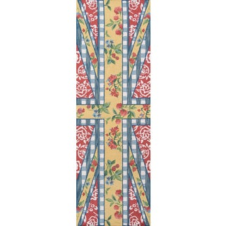 """Madcap Cottage Summer Garden Think of England Multi Area Rug 2'6"""" X 8' Runner For Sale"""