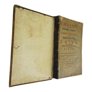 "First English Edition of ""An Embassy From the East-India Company""-1669-Very Rare For Sale"