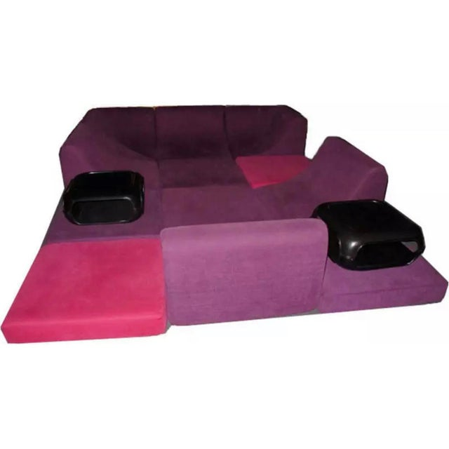 Mid-Century Modern Mid Century Modern Space Age Panton Colombo Era Luigi Colani Pool Sofa For Sale - Image 3 of 11