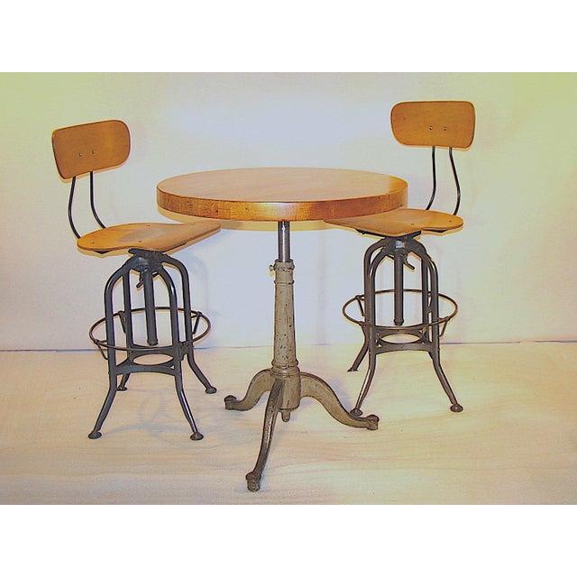 Apartment Size Butcher Block Dinette Table & Toledo Chairs