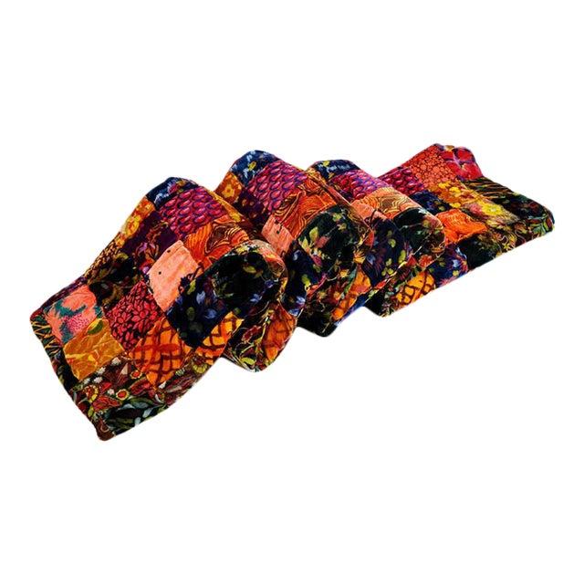 Vintage Boho Quilted Velvet Bedspread - Image 1 of 10