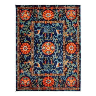"""Suzani Hand Knotted Area Rug - 9' 2"""" x 12' 4"""""""