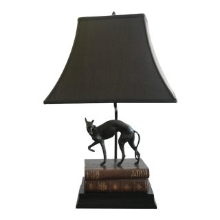 Whippet Greyhound Dog Desk Lamp With Shade For Sale