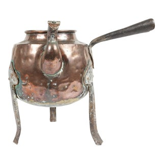 Antique Swedish Copper Kettle For Sale