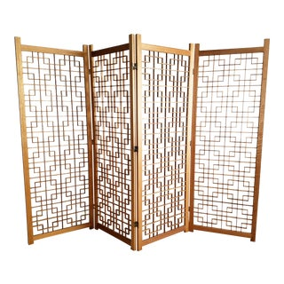 Mid-Century Screen / Room Divider - Geometric Style