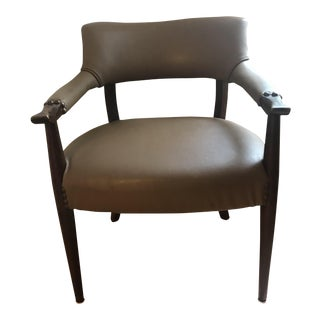 Mid-Century Modern Brown Accent Chair For Sale
