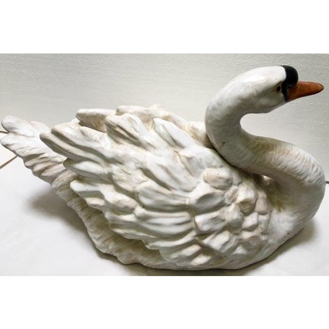 Glazed Ceramic Swans - A Pair - Image 4 of 6