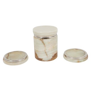Onyx Box and Dishes - 3 Pieces For Sale