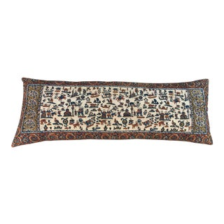 Antique Hand Blocked Paisley Body Pillow For Sale